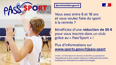 Pass'Sport : aide financière pour l'inscription de votre enfant à une activité sportive